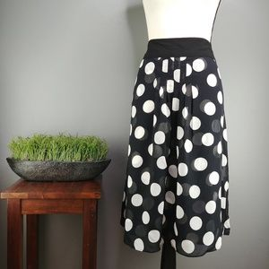 Dress Barn | Double Layer Polka Dot Midi Skirt